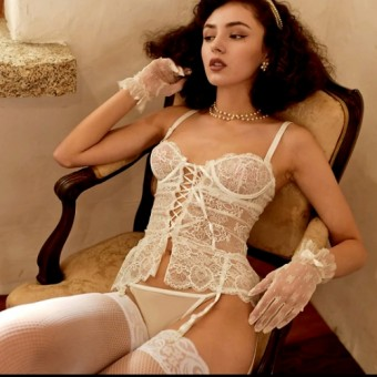 Floral Lace Pushup Bustier