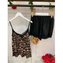 Animal Print Shorts Set