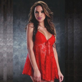 Red Maxine Babydoll