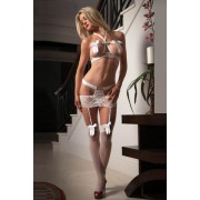 Juicy Set and Stockings - White