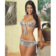 Dreamgirl Sequin Bra Top and Skirt