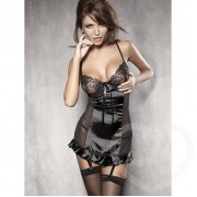 Embroidered Satin Chemise