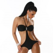 Jewelled Bandeau top Monokini