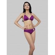 Purple halter bikini