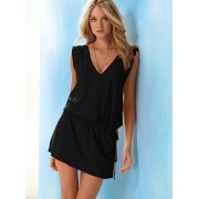 Deep V Beach Romper