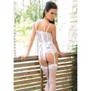 Bridal lace bustier