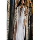 White sheerly seductive gown